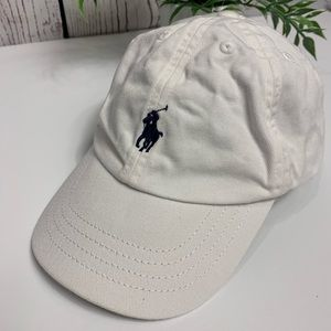 Ralph Lauren polo white logo hat toddler